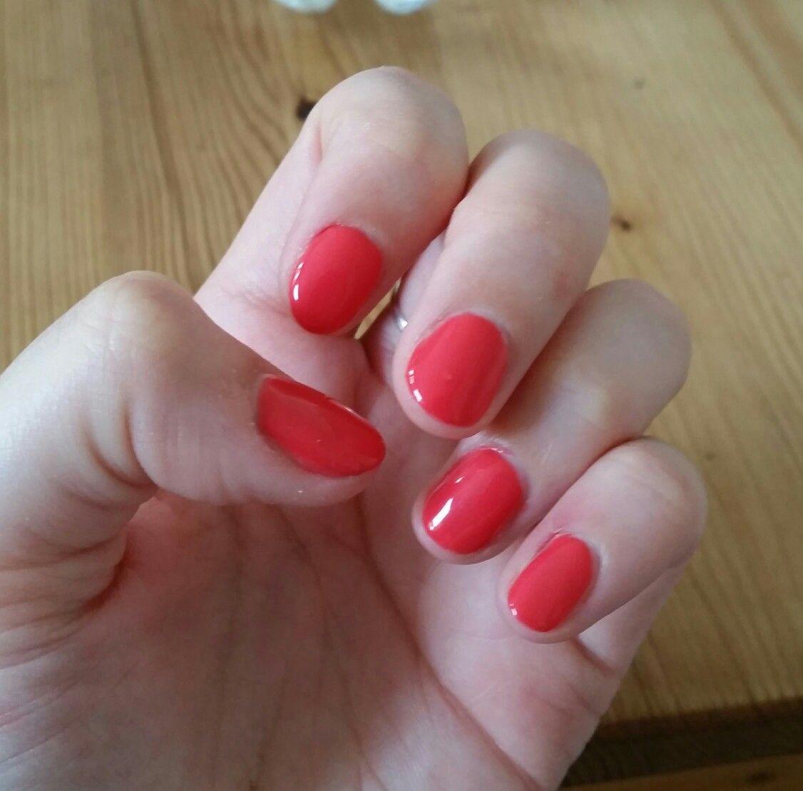 Elite99 Coral Red Pink Gel Nail Polish In 1331