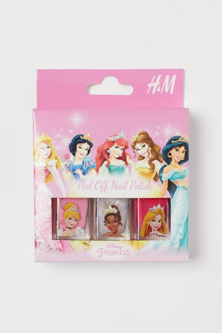 3 Slupovaci Laky Na Nehty Ruzova Disneyovske Princezny Deti H M Cz