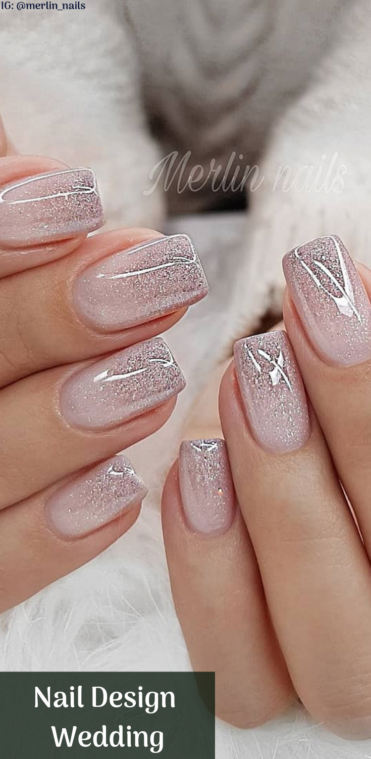 Nail Design Metalic For Wedding Nails Are An Art Expression To Many Brides Nowadays With Beautiful Design Picture Bride Nails Wedding Nails Design Bridal Nails