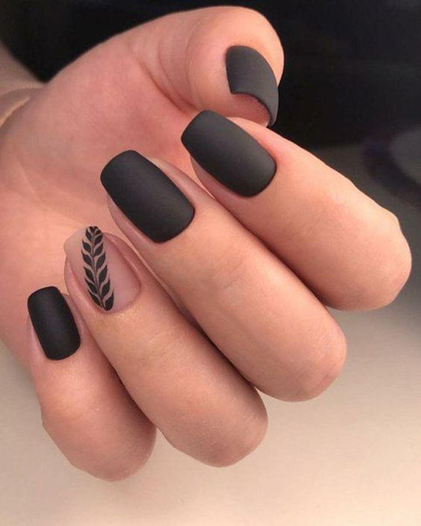 25 Cute Fall Manicure To Copy Right Now Gelove Nehty Matne Nehty Design Nehtu