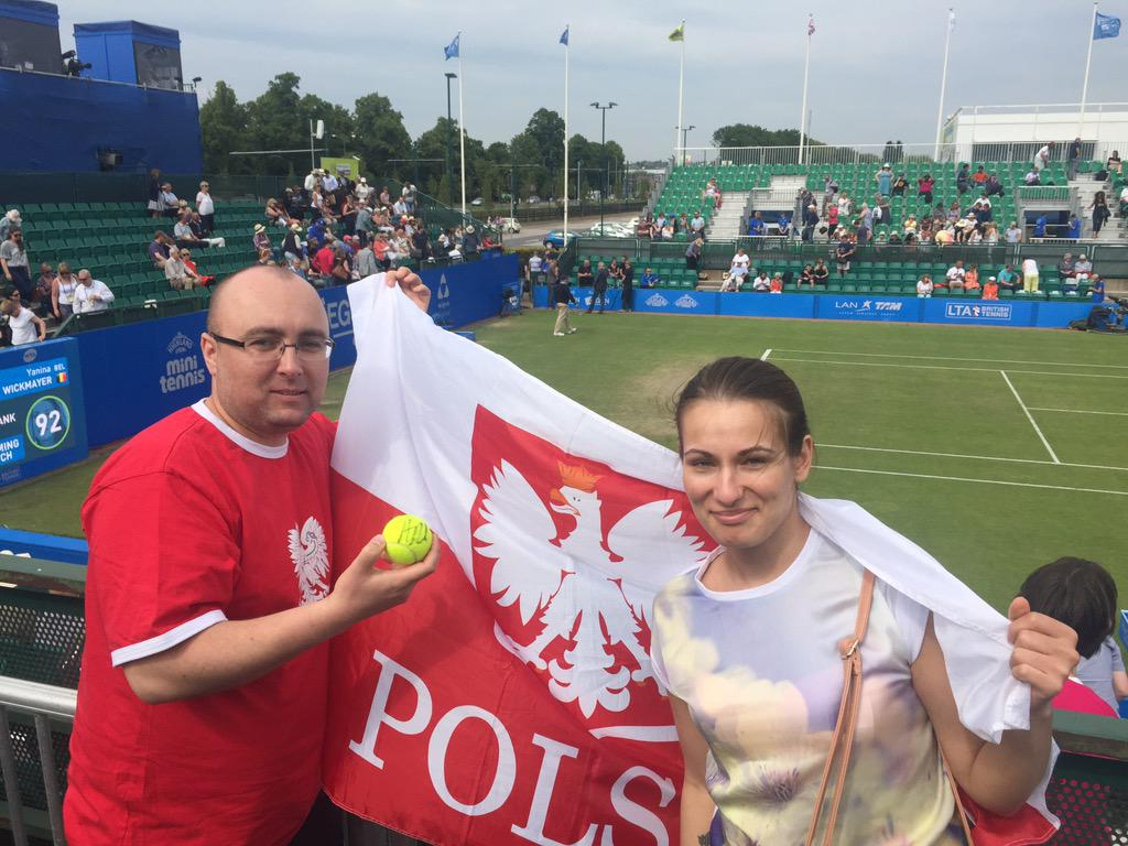 My Nottingham On Twitter Great Support From Polish Fans On Court At Aegonopen Nottingham Supporting Aradwanska Lucky Fan With A Signed Ball Http T Co W8jlv9s8kc