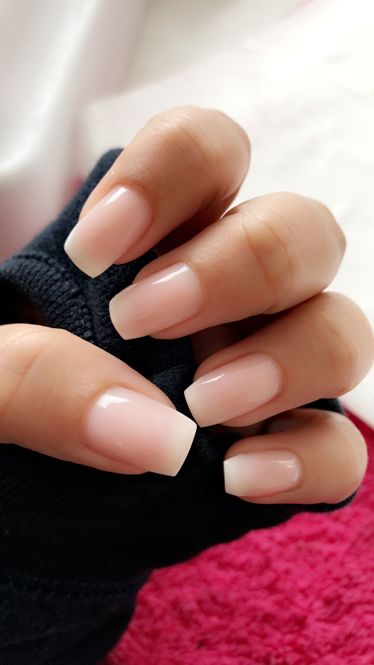 Ombre French Tips Neutral Nail Art Designs Solid Color Nails Minimalist Nails