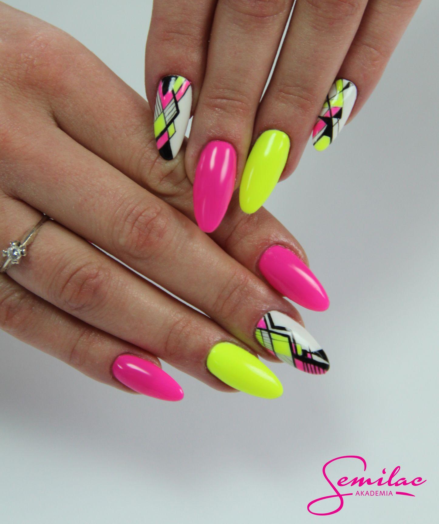 Neonnails Summer Longnails Artnails Design Nehtu Gelove Nehty Barevne Nehty