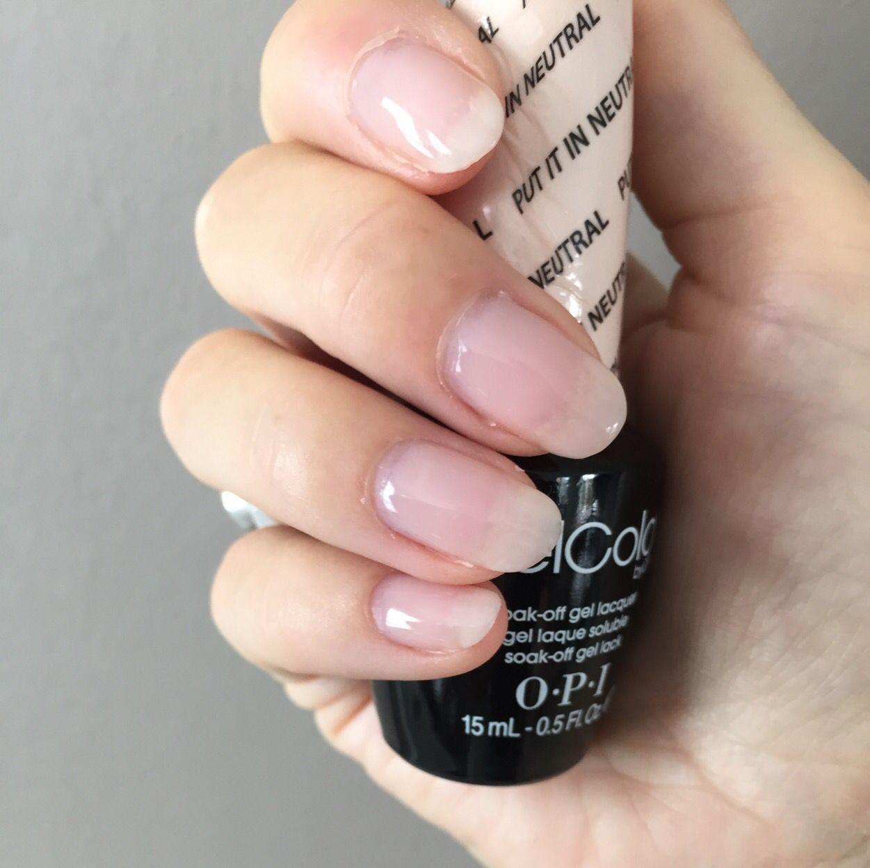 Opi Gelcolor Put It In Neutral Opi Gel Nails Opi Gel Nail Colors Opi Gel Polish