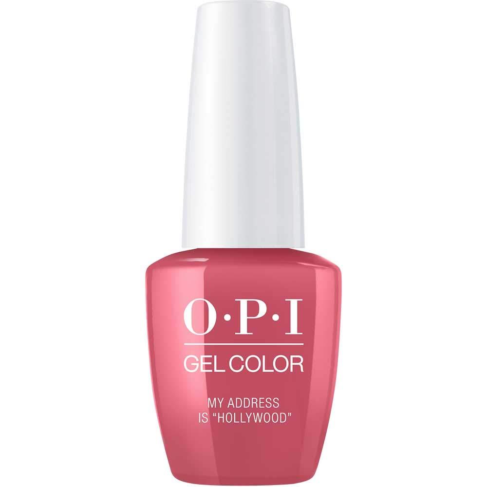 Amazon Com Opi Gelcolor My Address Is Hollywood 0 5 Fl Oz Gel Nail Polish Premium Beauty