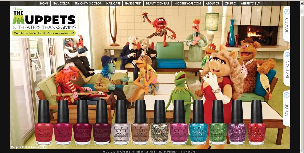 A Few Of My Favorite Things Opi Muppets Collection