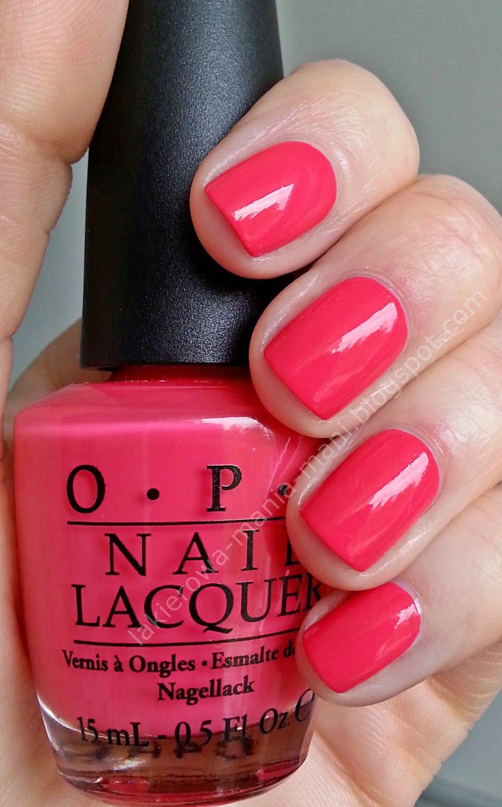 Opi Charged Up Cherry Nails Gelish Nails Opi Manicura