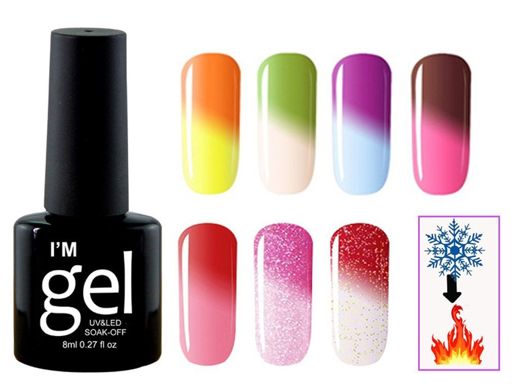 Uv Gel Nail Polish Changing Color According The Temperature Free Shipping Consignmenter Com