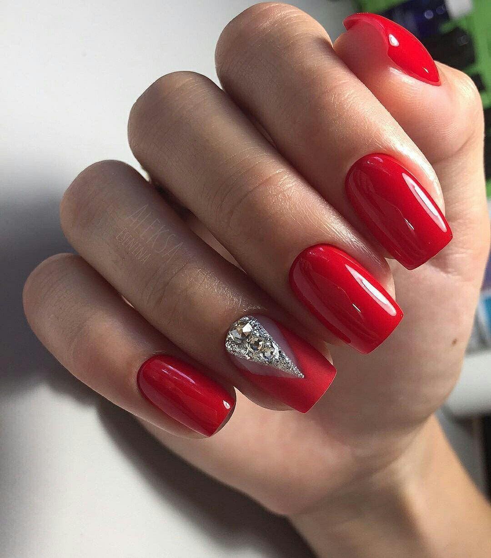 38 Trendy Red Nails For Holiday 2019 Gelove Nehty Design Nehtu Nehty