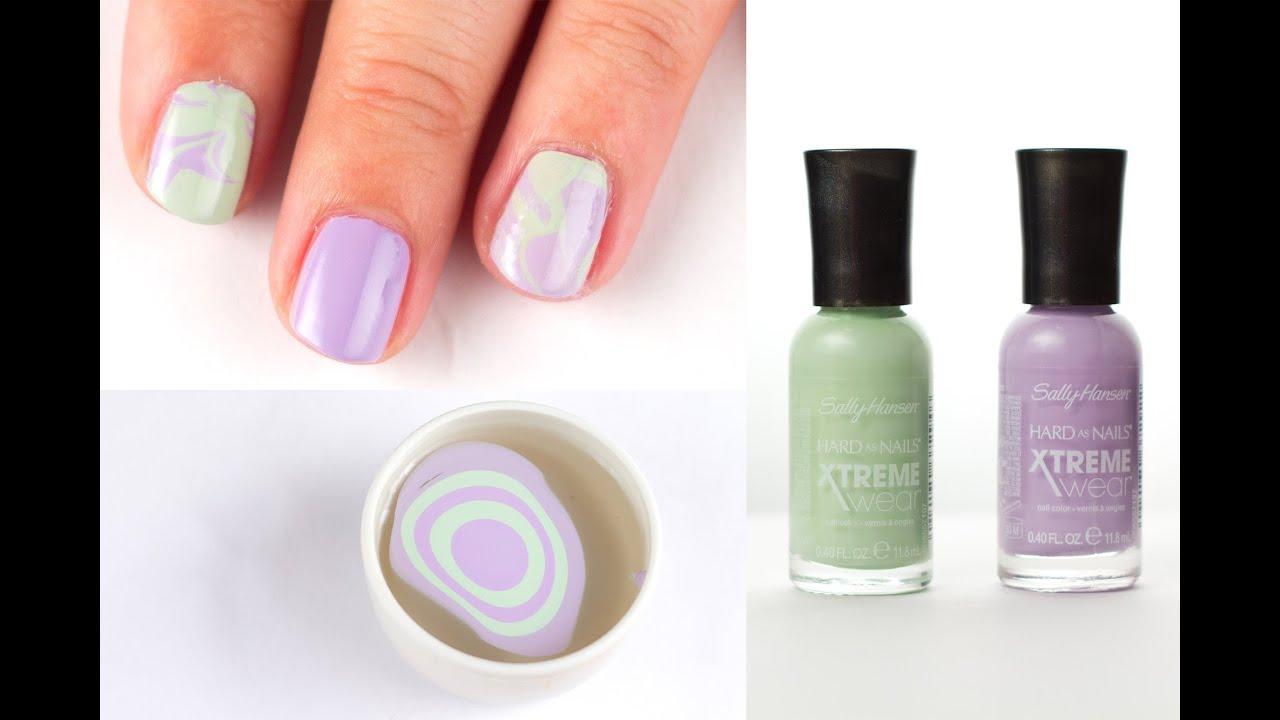 Jarni Mramorovane Nehty Diy Spring Marble Nails Youtube
