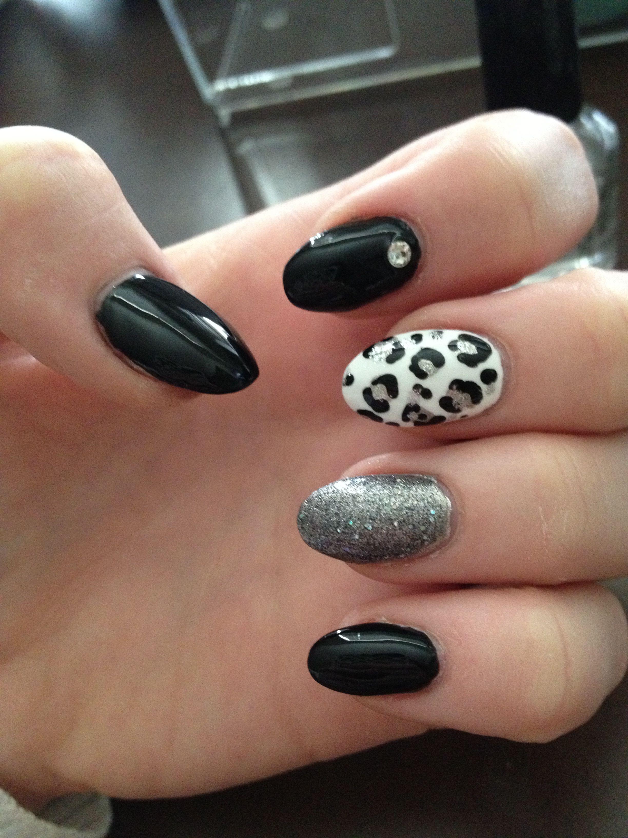 Black And White Nail Art Pastelove Barvy Barvy