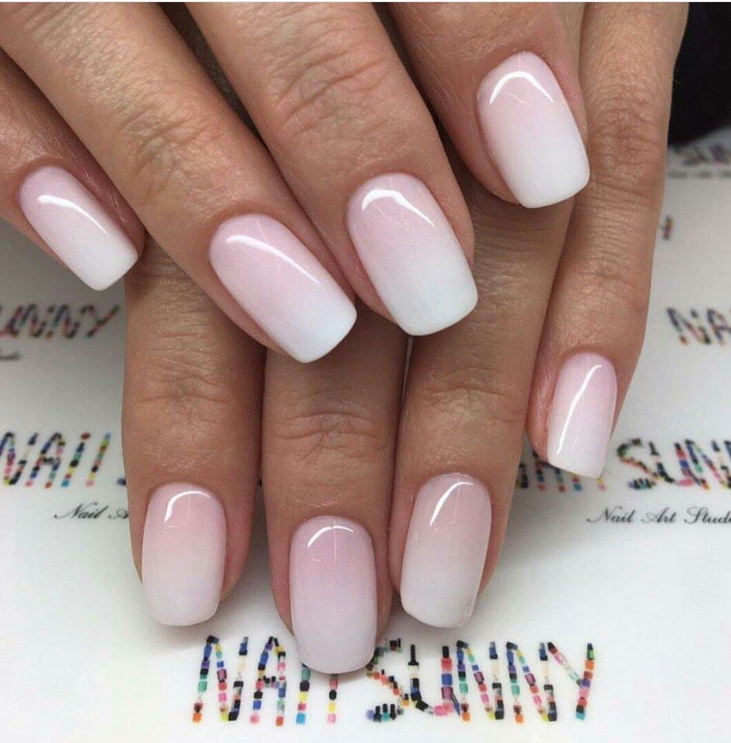 Ombre Pink And White Nails Ruzove Nehty Nehet Ombre Nehty
