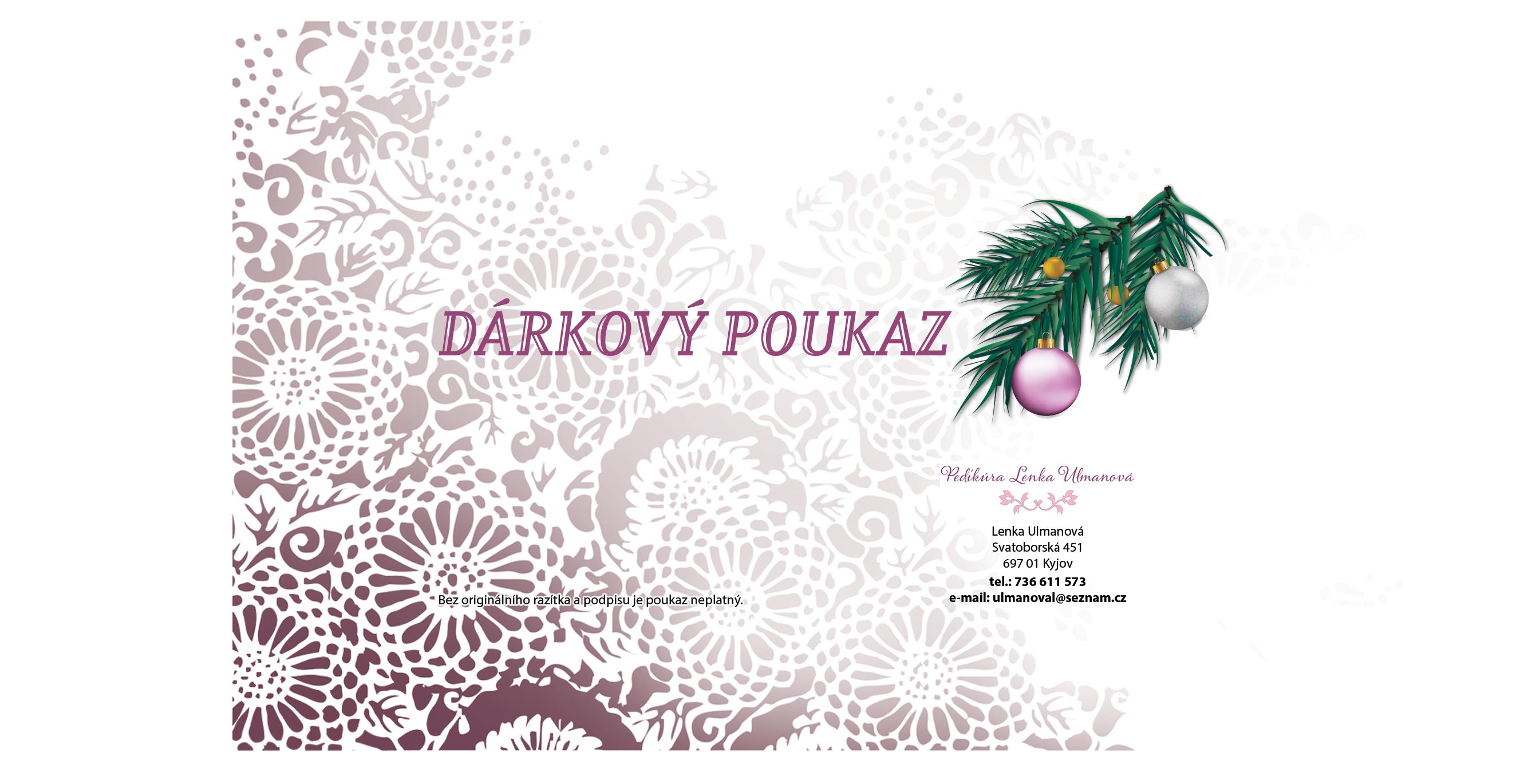 Darkovy Poukaz Pedikura Kyjov Lenka Ulmanova