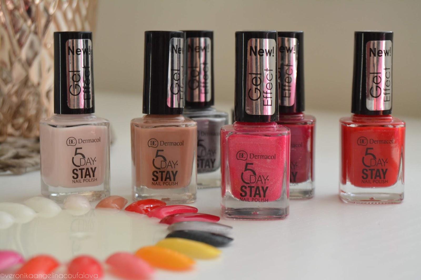 Dermacol 5 Day Stay Dlouhotrvajici Laky Na Nehty Mini Summer Collection Letni Laky Na Nehty Angelina Beauty Blogger