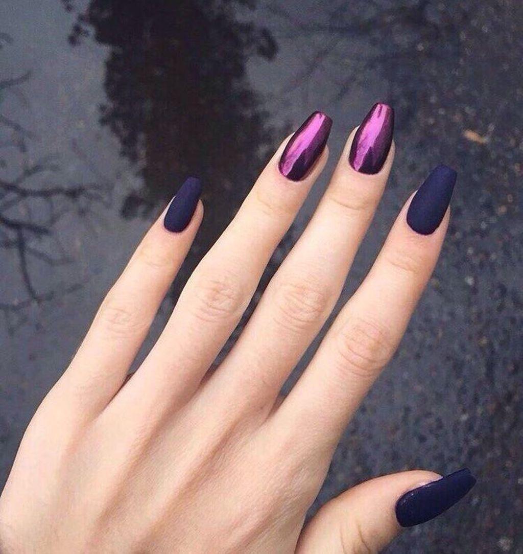 48 Creative Winter Nail Design Ideas This Season Gelove Nehty Design Nehtu Nehty