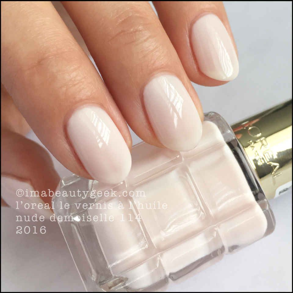 L Oreal Paris Vernis A L Huile Swatches Review Unas Belleza