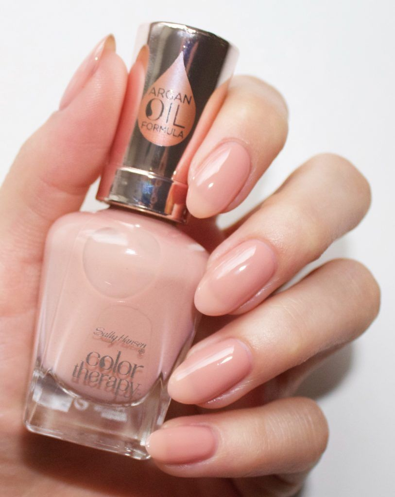 Sally Hansen Color Therapy Swatches And Review Sally Hansen Color Therapy Sally Hansen Nail Polish Blush Nails