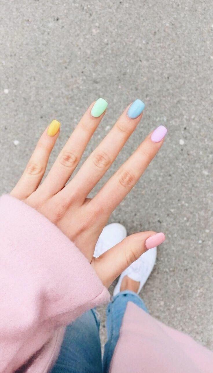 Pin By Zuzana Slamova On Nailed It In 2020 Short Acrylic Nails Designs Short Acrylic Nails Solid Color Nails