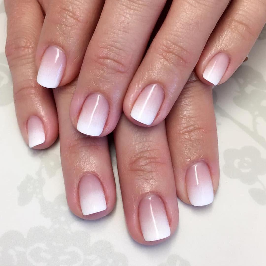 Ombre French Manicure Design Nehtu Gelove Nehty Zlate Nehty