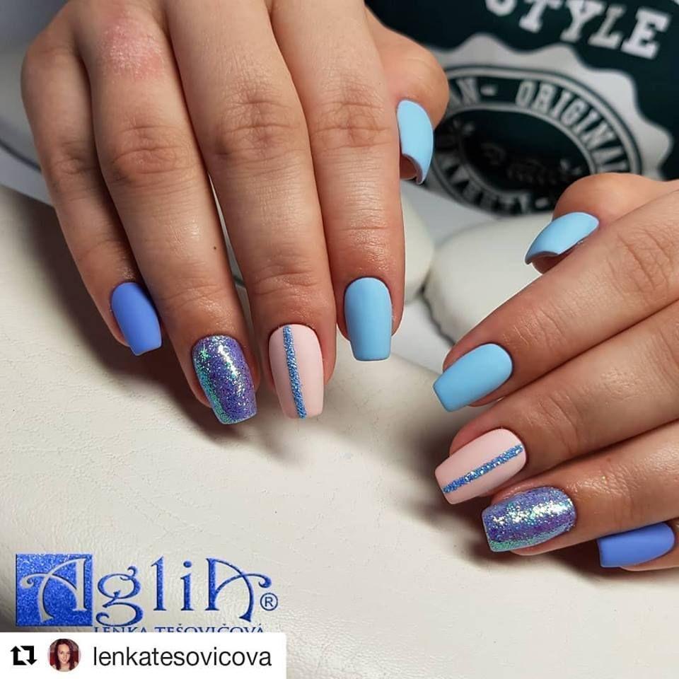 Modre Nehty Good Morning Nails Uv Gel Gel