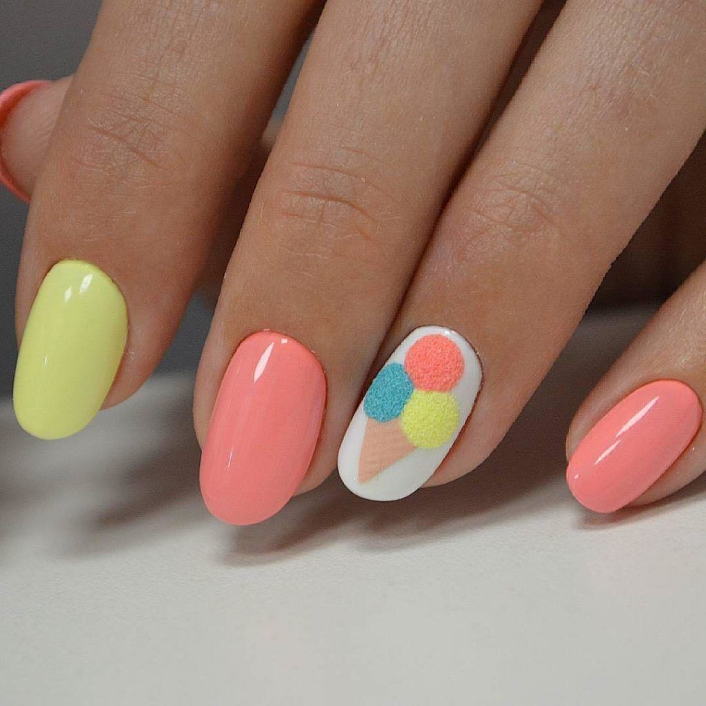 40 Unique And Different Nail Art Designs For Summer Gelove Nehty Design Nehtu Nehty