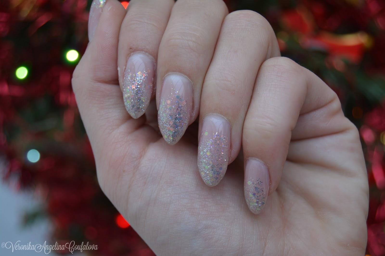 Angelina Beauty Blogger Nails Shimmer Glitter