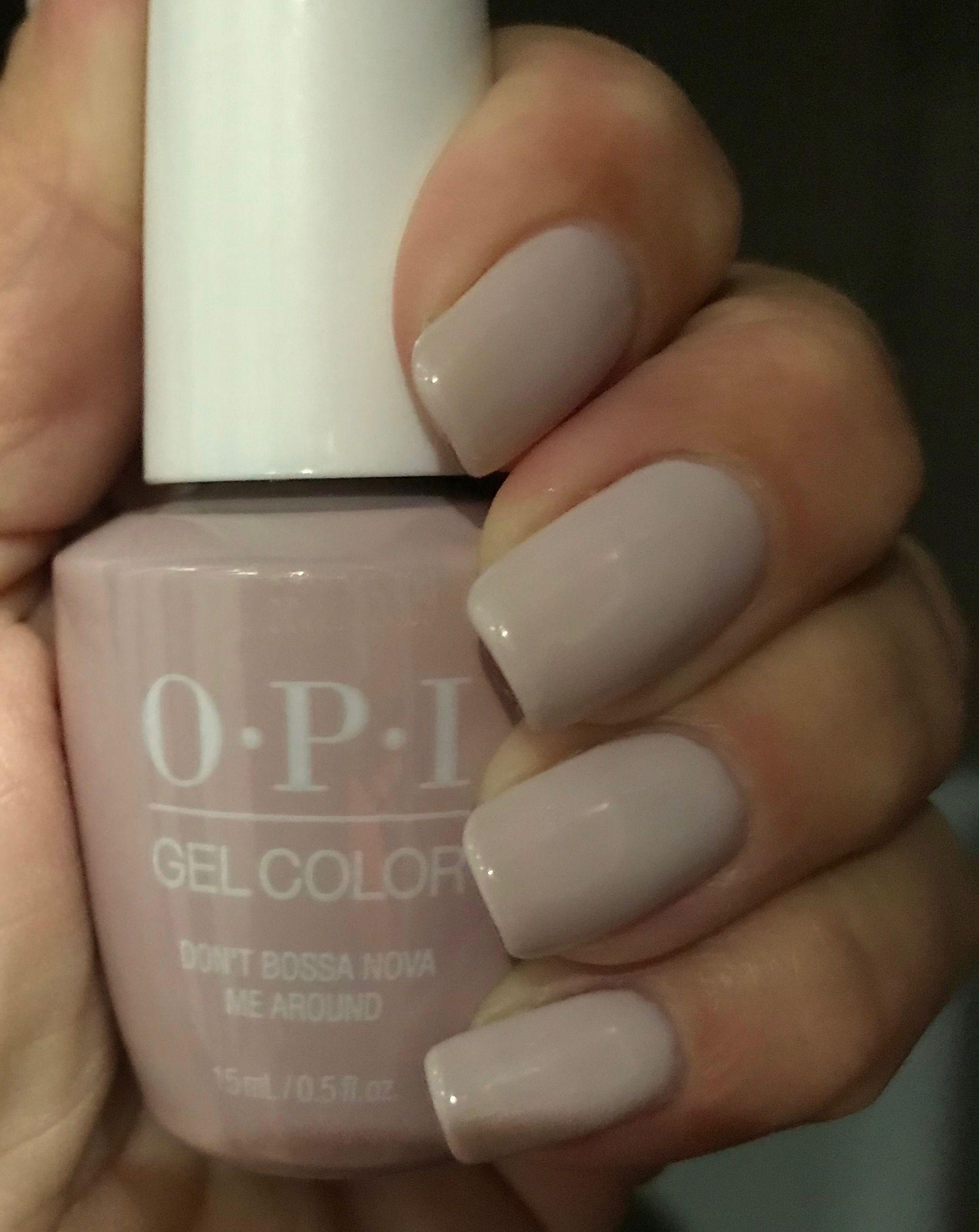 Opi Don T Bossa Nova Me Around 3 Coats Opi Gel Nails Nail Polish How To Do Nails