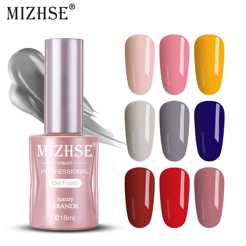Mizhse 18ml Gel Polish Set Uv Vernis Semi Permanent Primer Top Coat Top Base Varnish Nail Art Manicure Gel Lak Polishes Nail Nail Gel Aliexpress