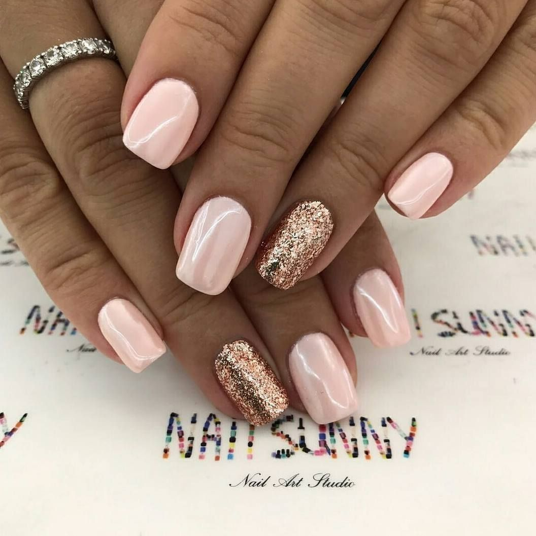 Pin By Ludvika On Paznokcie Syrenki Pink Nails Gold Nails Rose Gold Nails