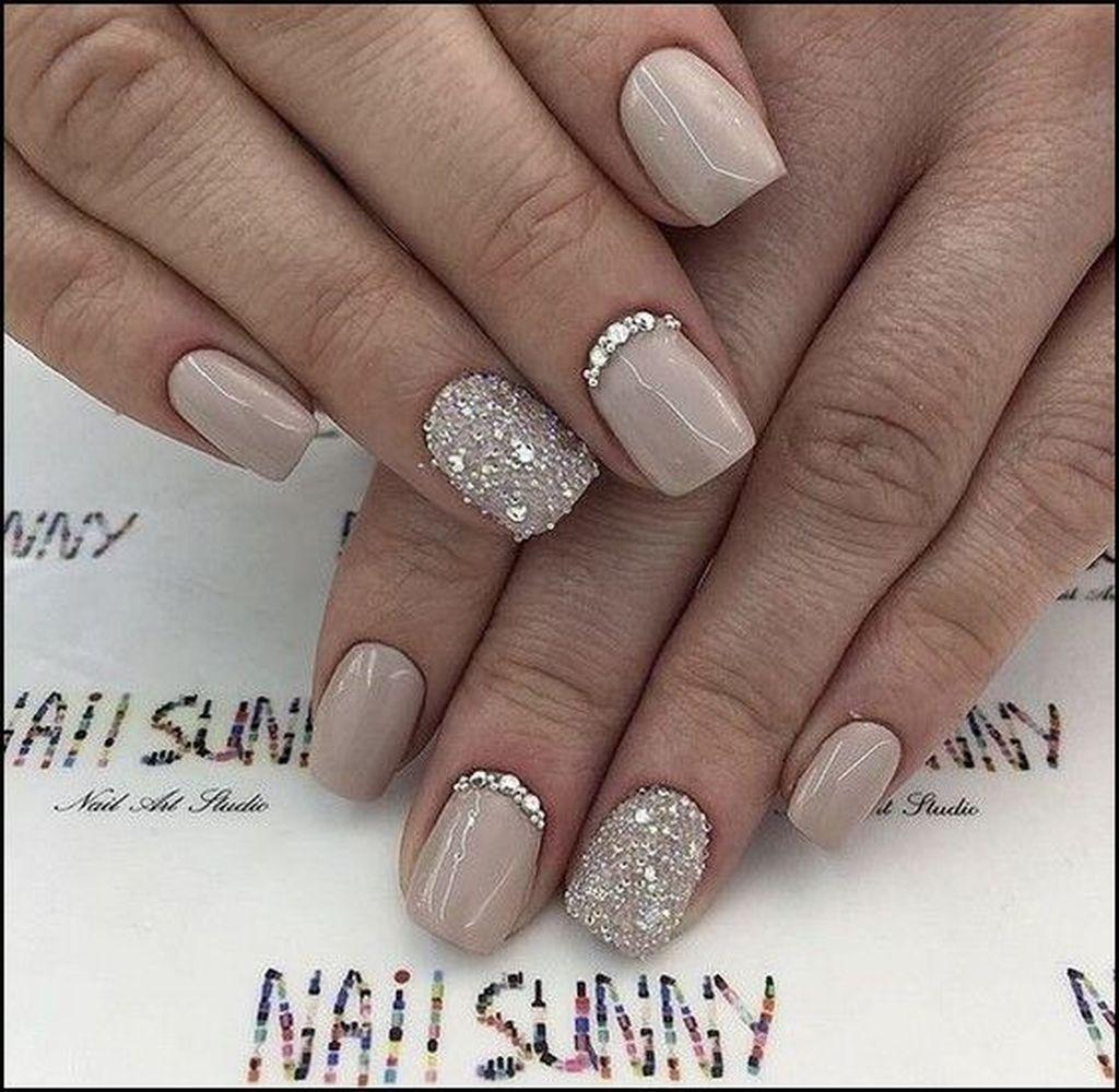 37 Elegant Nail Ideas For Valentines Day Gelove Nehty Design Nehtu Kratke Nehty