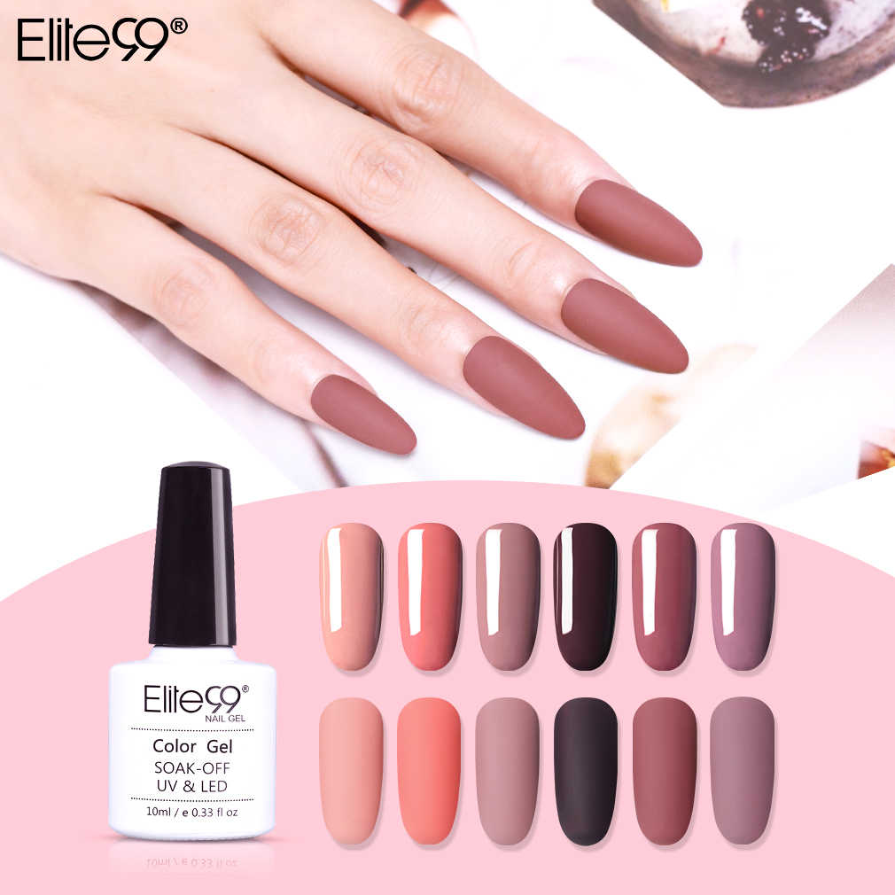 Elite99 10ml Brick Red Color Uv Gel Nail Polish Semi Permanent Primer Top Coat Nail Art Manicure Gel Lak Polishes Nails Varnish Aliexpress