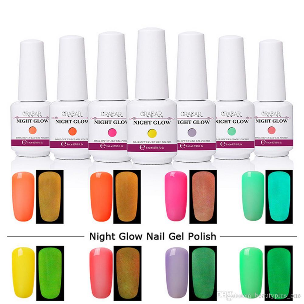 8ml Uv Gel Nail Polish Night Glow Fluorescent Soak Off Gel Polish Semi Permanent Paint Gellak Hybrid Varnish Enamel Gel Nail False Nails From Beautyplus One 1 84 Dhgate Com