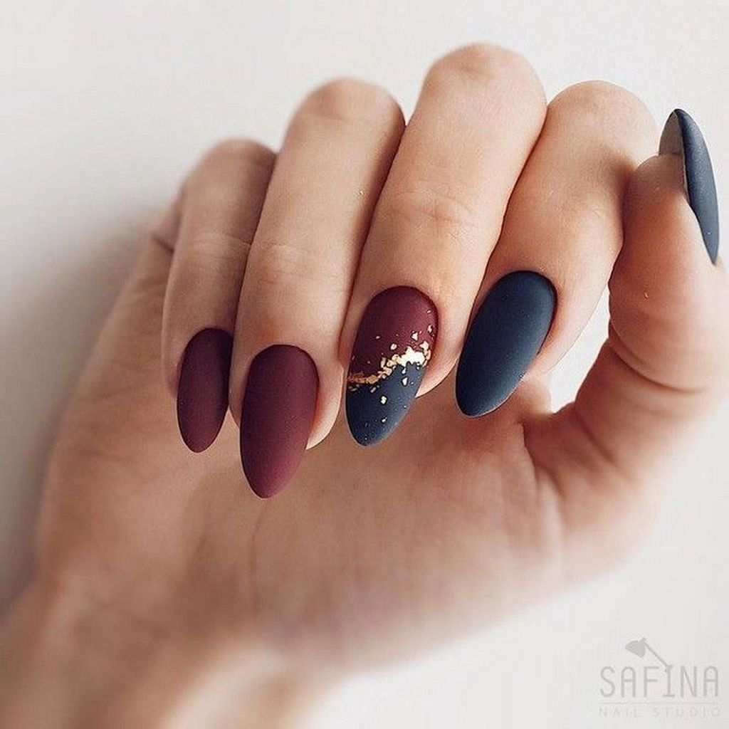 30 Fancy Matte Nail Art Designs Ideas You Need To Try Right Now Gelove Nehty Design Nehtu Kratke Nehty