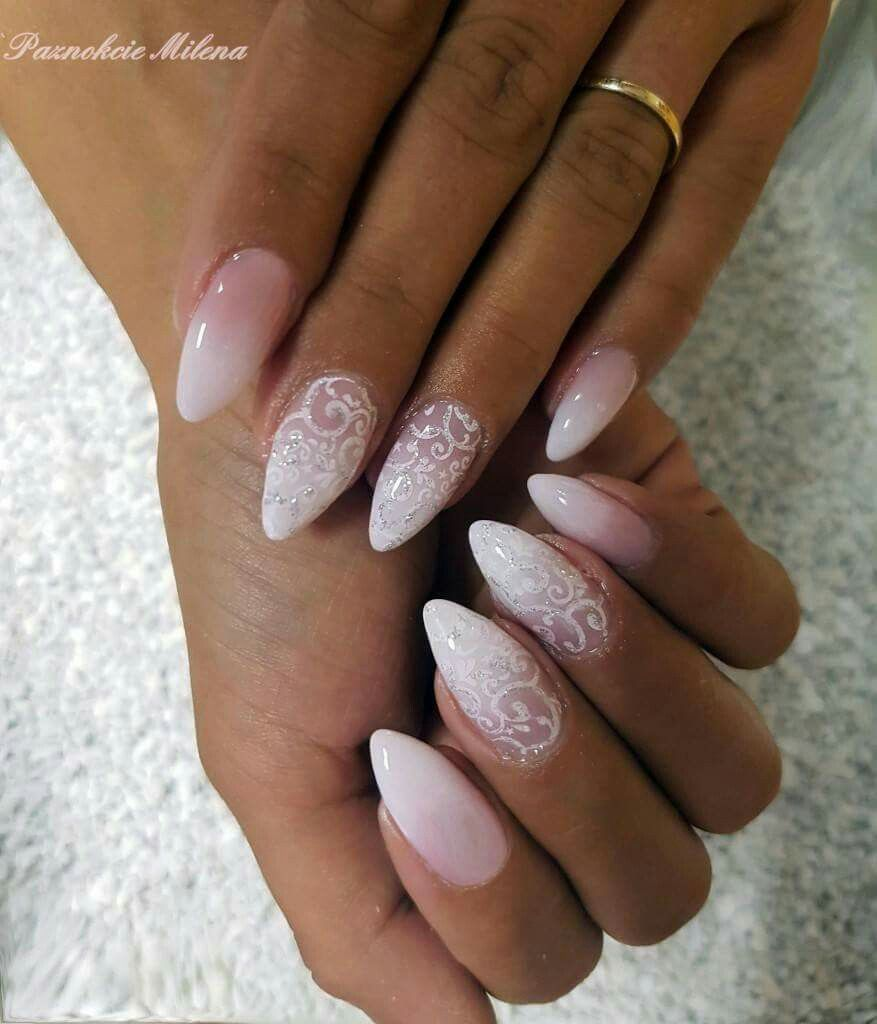Pin By Petra On Nails Gelove Nehty Ombre Nehty Design Nehtu