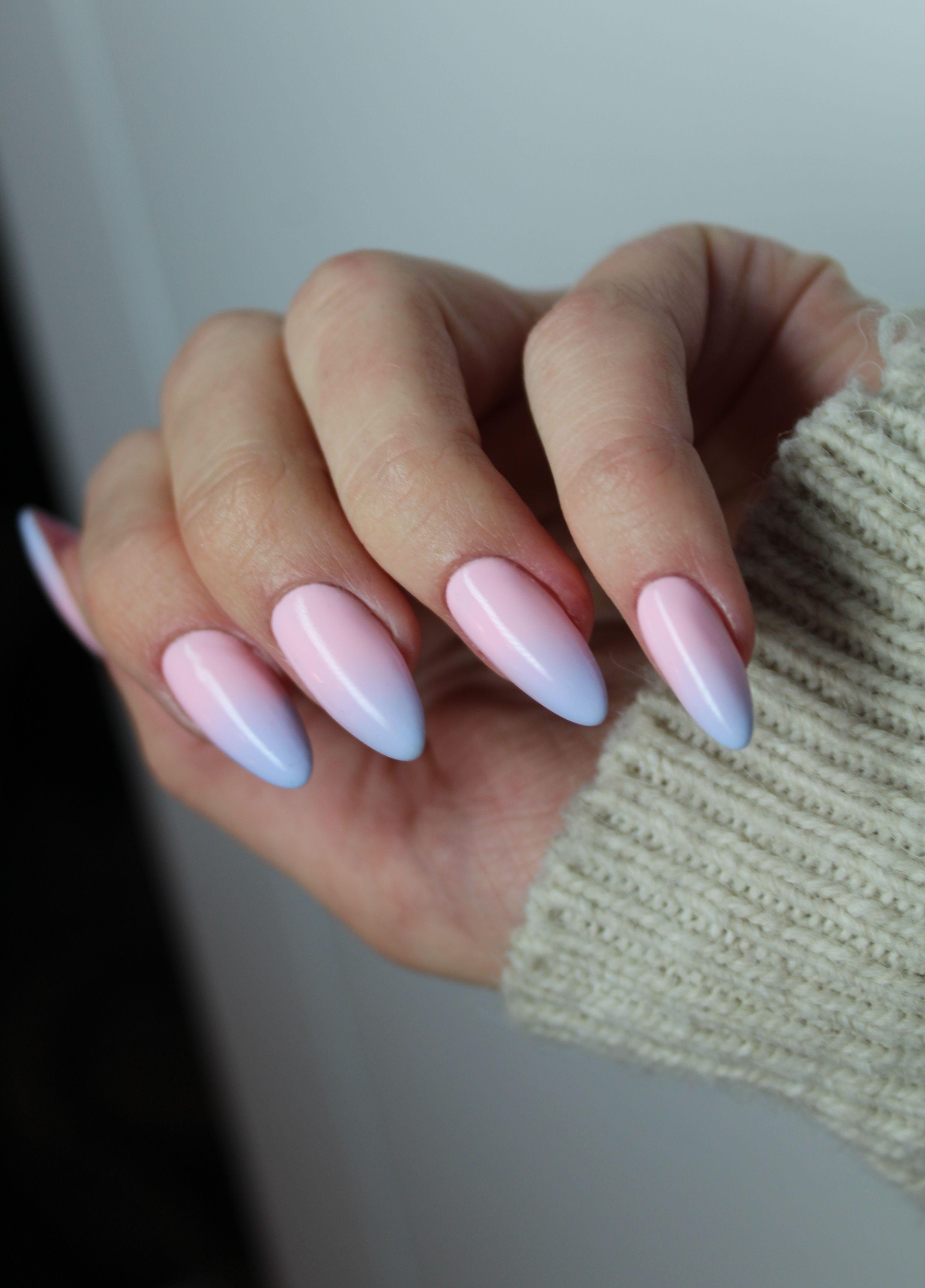 Ombre Ombrenails Paznokcie Pastelombre Pastele Pastelove Pinknails Mani Nails Manicure Springnails Gelove Nehty Francouzska Manikura Nehty