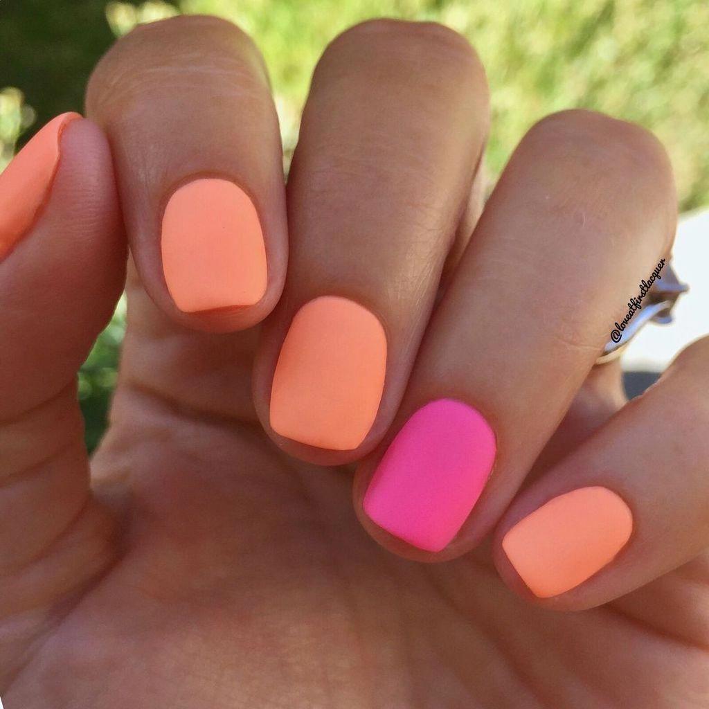 30 Impressive Colorful Nails Design Ideas For Summer Gelove Nehty Akrylove Nehty Nehty