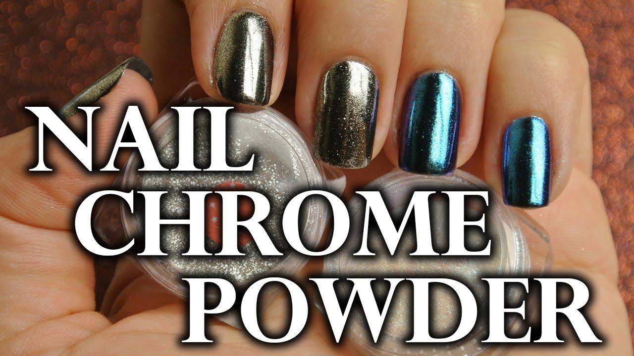 Chrome Nails Tutorial Metalicke Kovove Nehty Magic Miror Powder Youtube