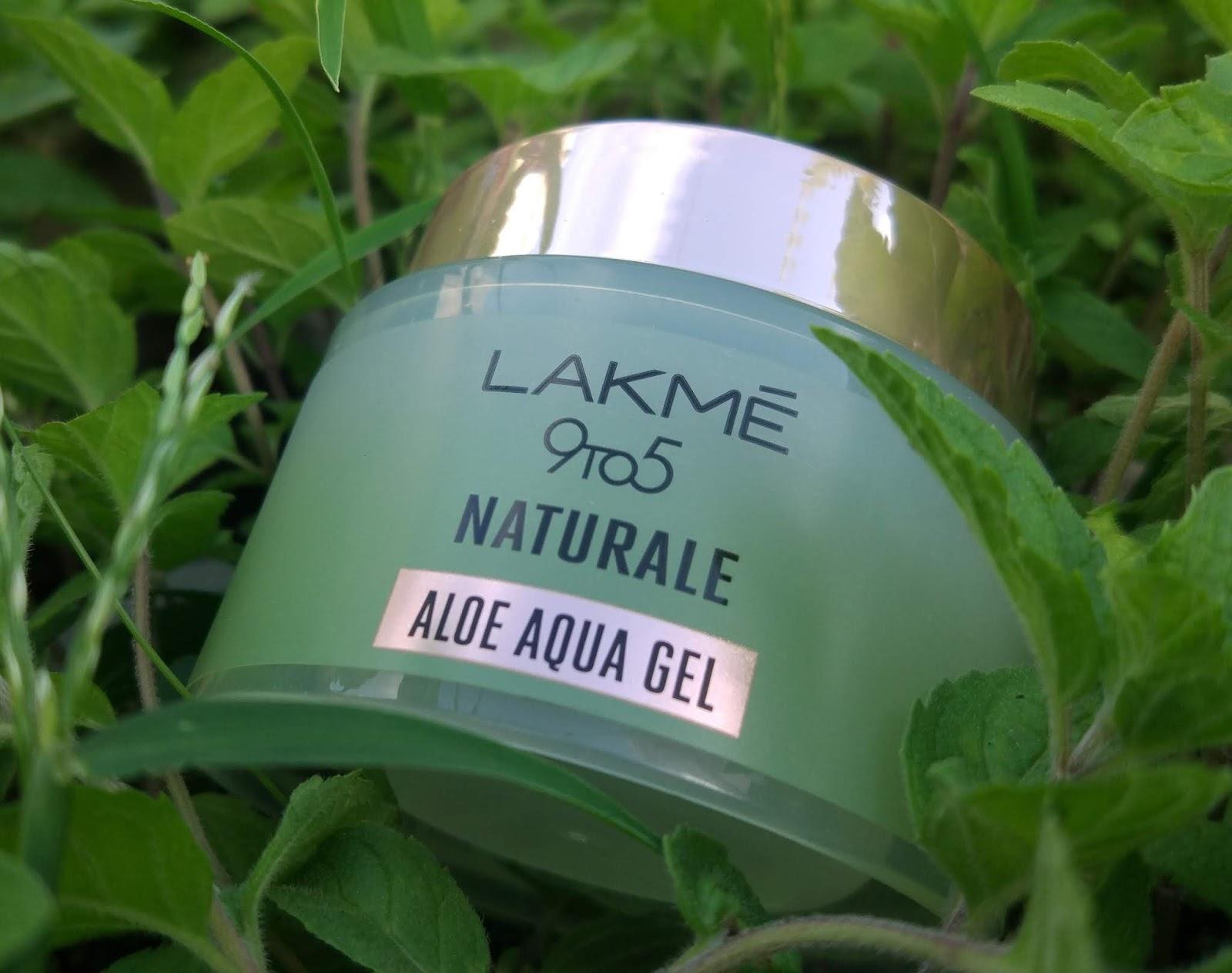 Lakme 9 To 5 Naturale Aloe Aqua Gel Review Peachypinkpretty