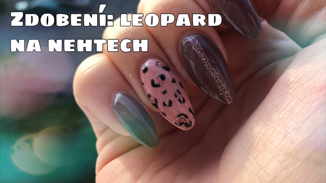 Zdobeni Nehtu Gel Laky Leopardi Vzor Kate Cosmetics Youtube