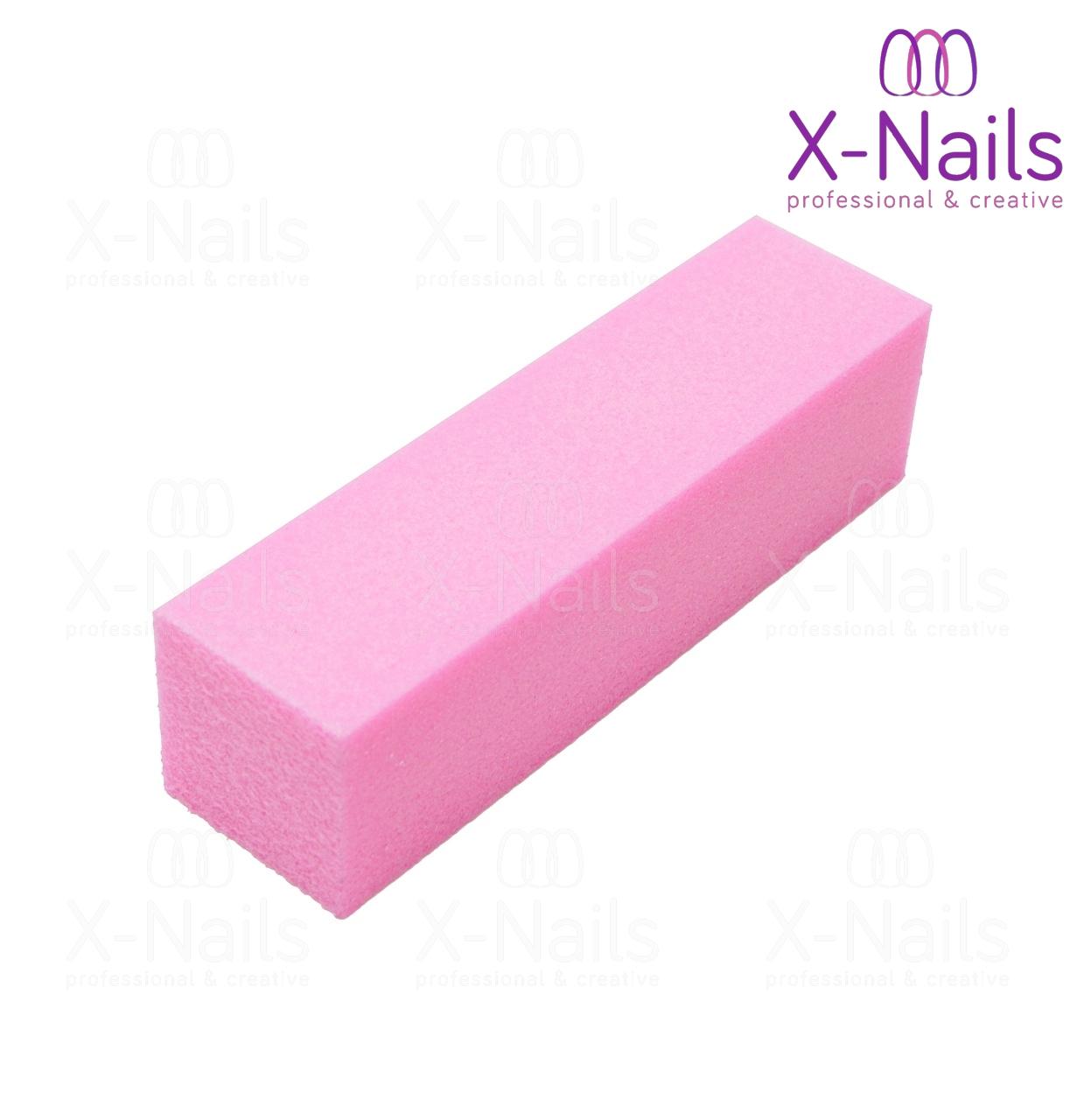Brusny Blok Na Nehty 100 100 Lestici Blok Na Nehty Ruzovy X Nails