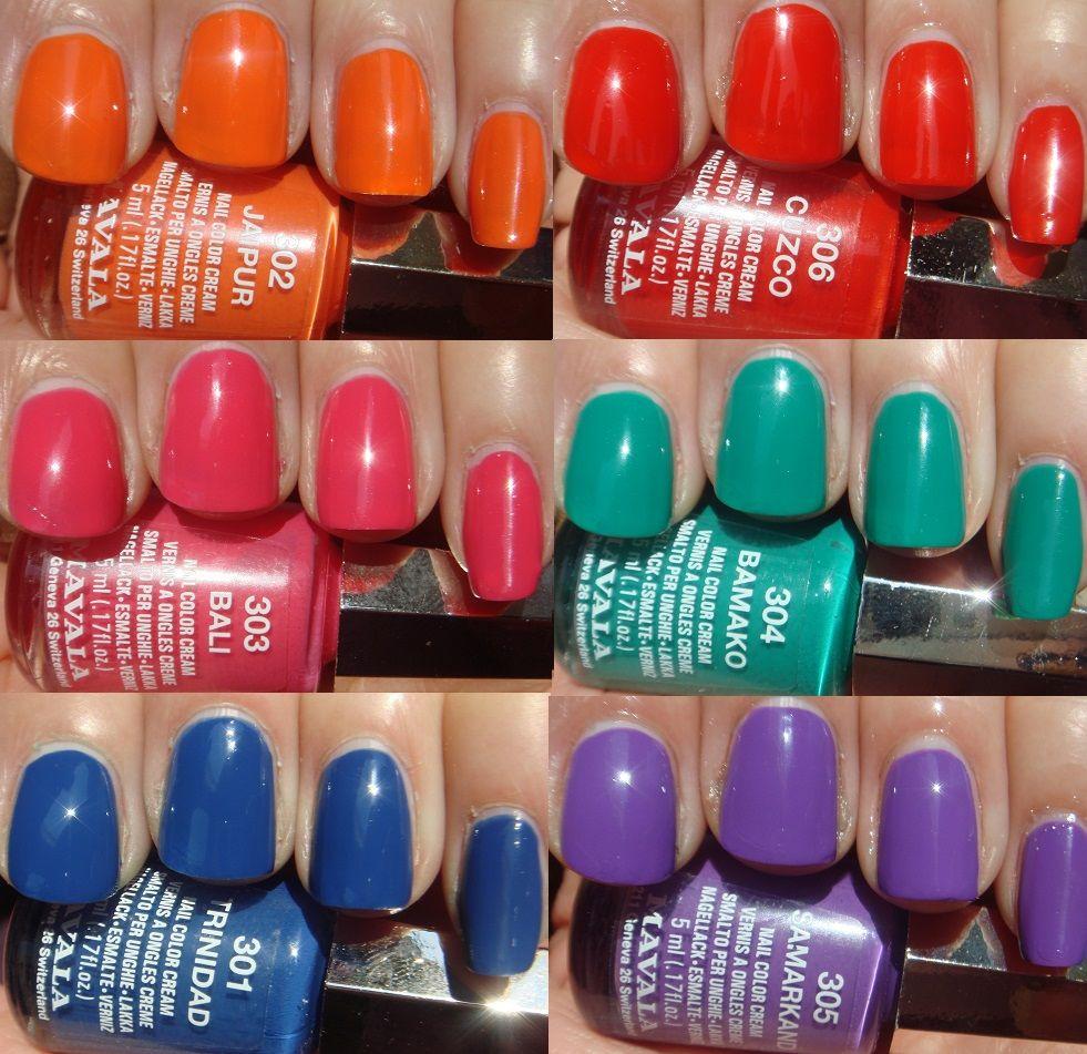 Mavala Chilli Spice Collection Loving The Blue Of Trinidad Nail Polish Mavala Nail Polish Nails