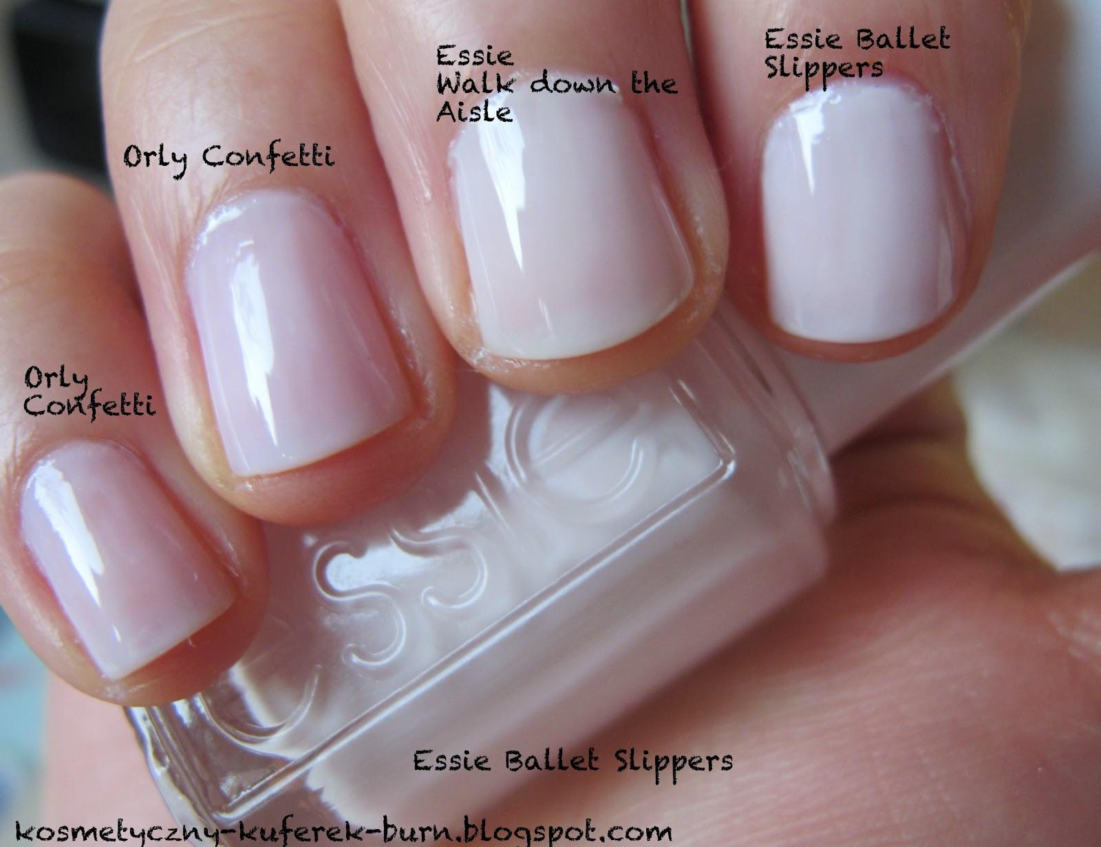 Kosmetyczny Kuferek Burn Mleczne Frenczaki Orly Confetti Essie Ballet Slippers Essie Walk Down The Aisle