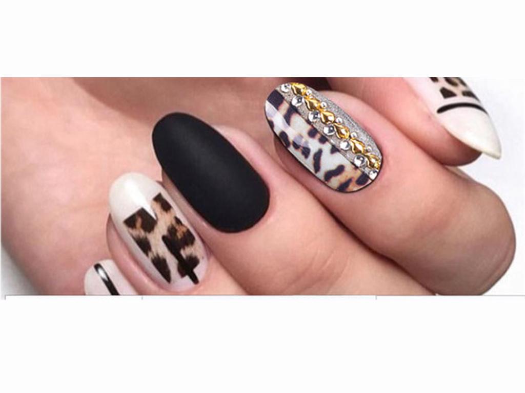 Nalepky Na Nehty Ca 406 Leopardi Pruhy