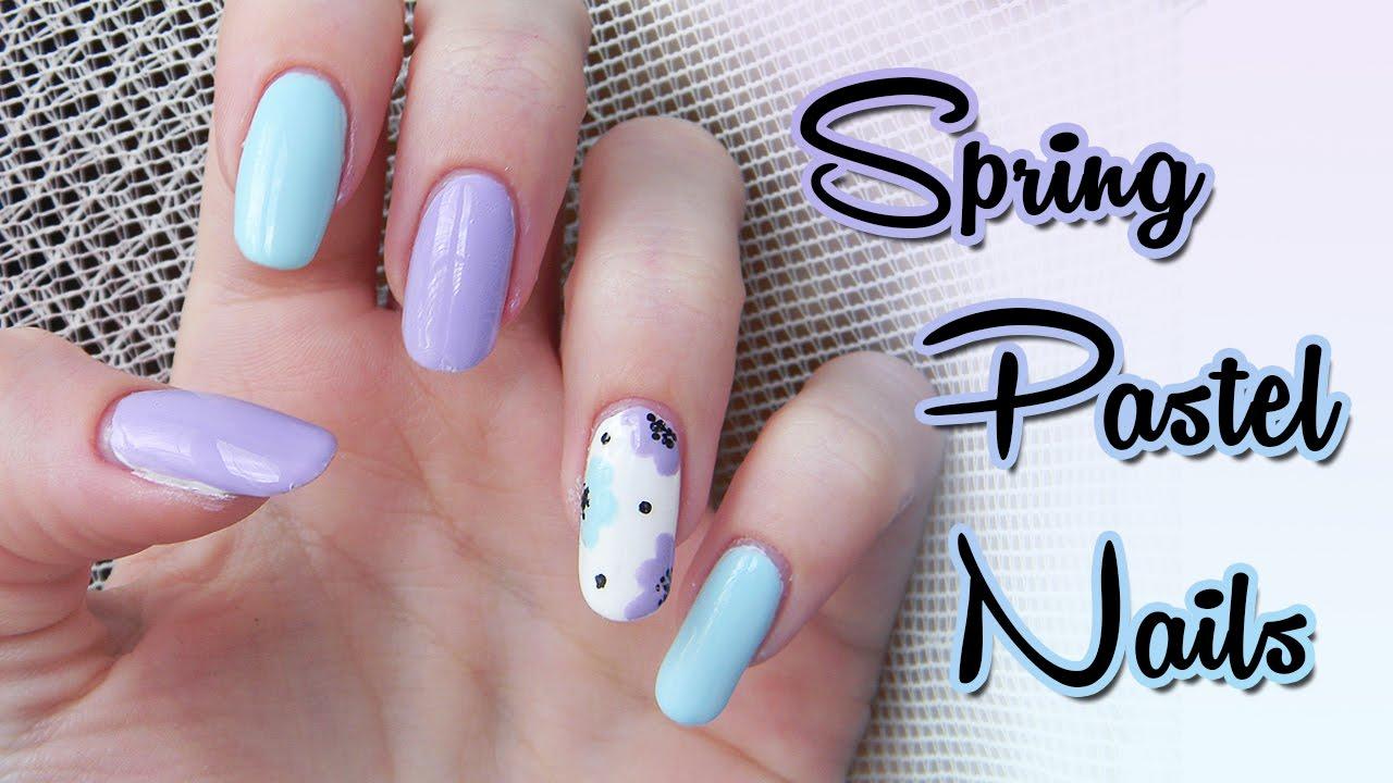Pastelove Nechty Na Jar Leto Pastel Nails For Spring Summer Youtube