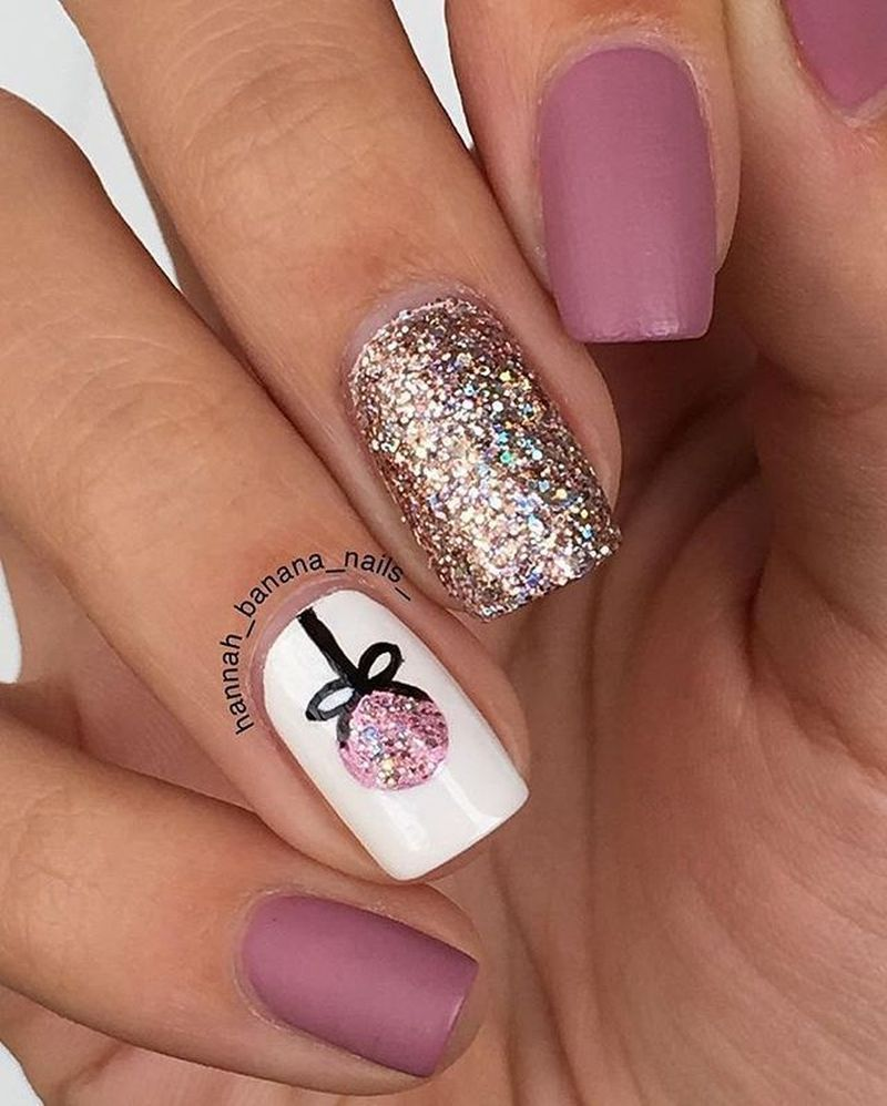 47 Popular Winter Nails Colors To Look Excellent This Season Gelove Nehty Design Nehtu Umele Nehty