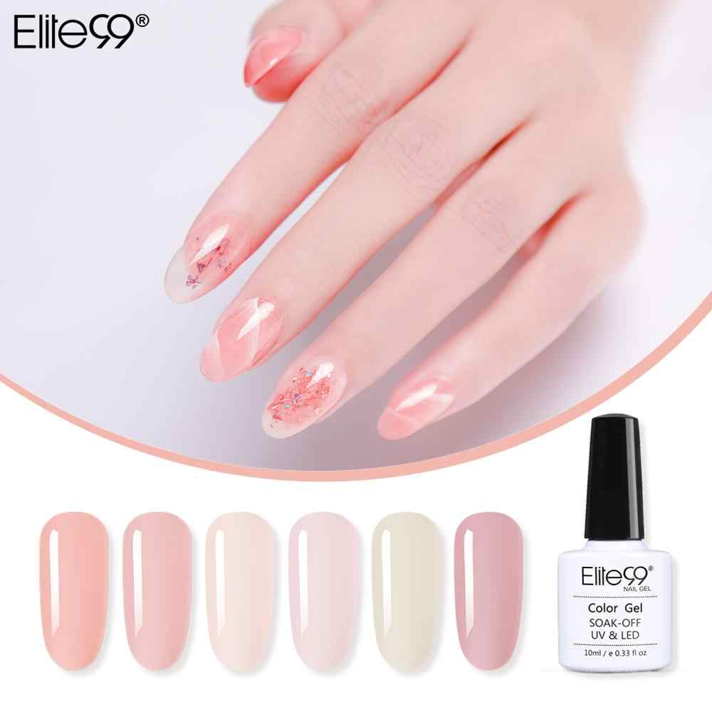 Elite99 French Nude Color Gel Nail Polish Vernis Semi Permanent Uv Nail Gel Lak Primer Soak Off Nail Art Gel Varnish Gelpolish Aliexpress