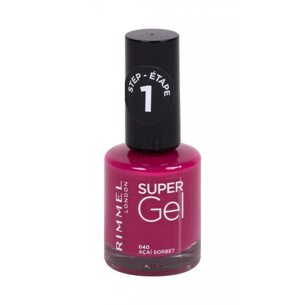 Rimmel London Super Gel Step1 Lakier Do Paznokci Dla Kobiet 12 Ml Odcien 040 Acai Sorbet Elnino Parfum