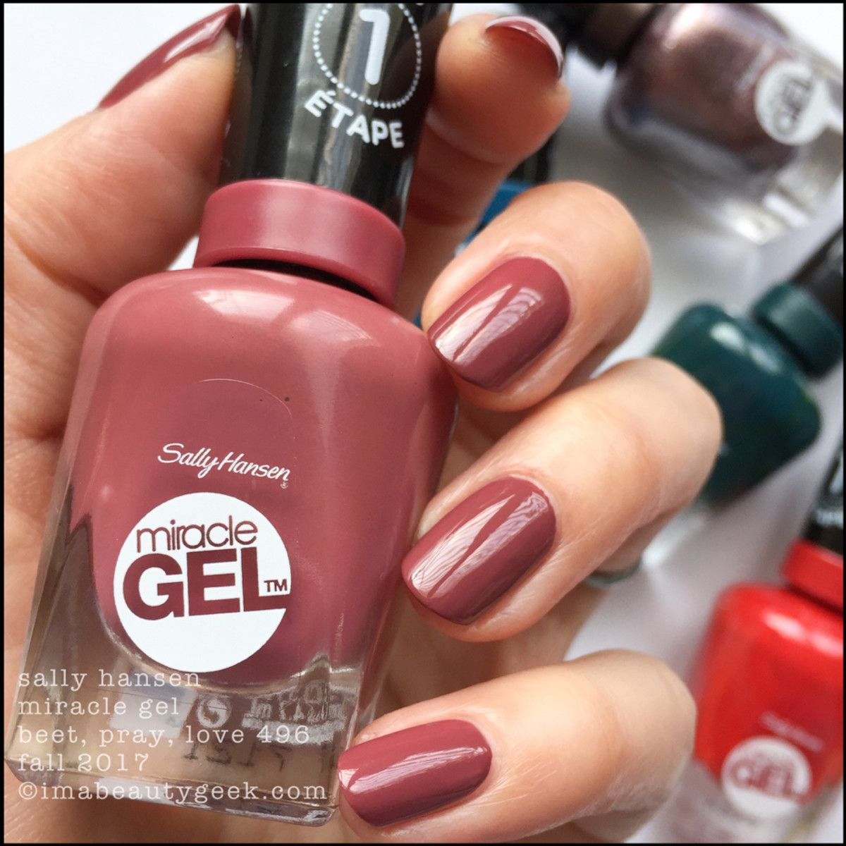 Sally Hansen Miracle Gel Swatches Fall 2017 Morocco Nechty Licenie