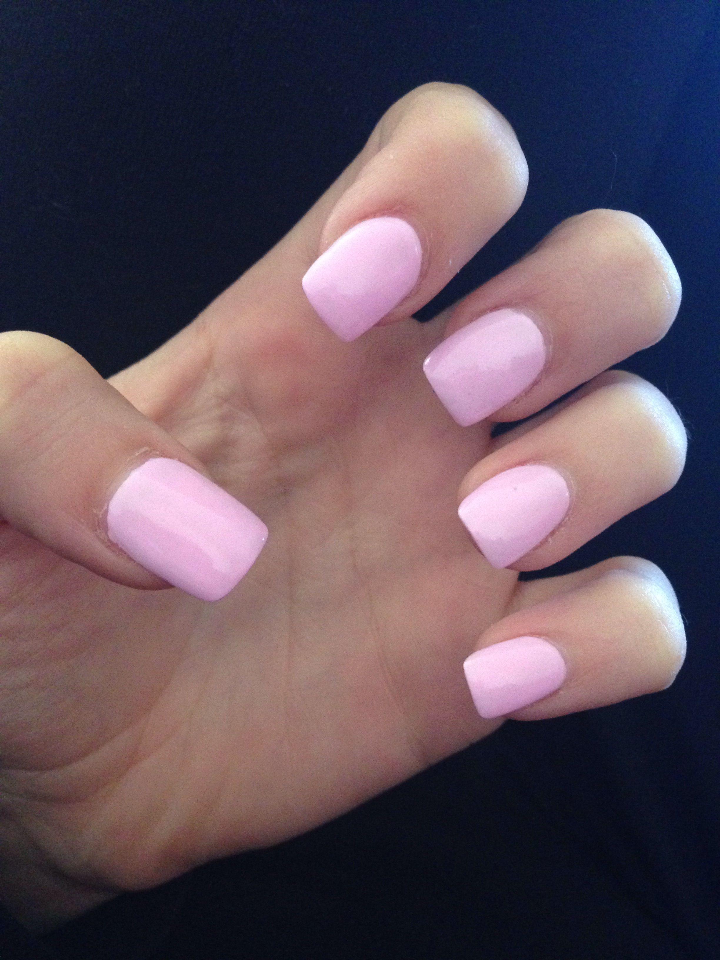 Light Pink Acrylic Nails Nehty