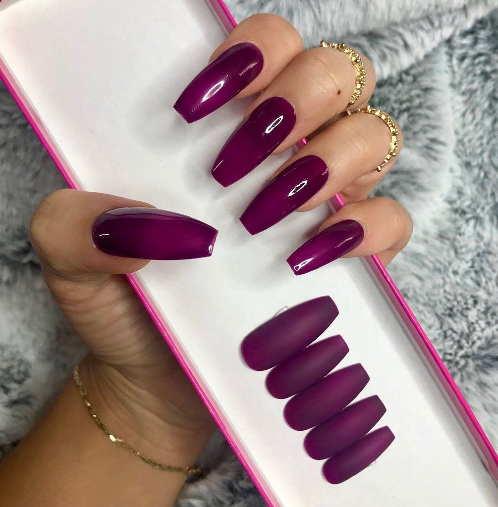 Awesome 52 Top Trending Nail Art Design For Winter To Spring Http 101outfit Com Index Php 2019 01 26 52 Top Tren Plum Nails Best Nail Art Designs Ombre Nails